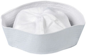 Mens-ladies-Adult-fancy-dress-costume-US-Marine-Sea-White-SAILOR-DOUGH-BOY-HAT
