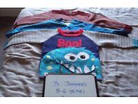 Bundle of boys 5-6 jumpers