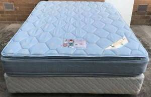 Excellent double-sided Pillow Top queen mattress with white base Kingsbury Darebin Area Preview