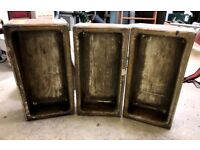 Three stone sinks, garden planters
