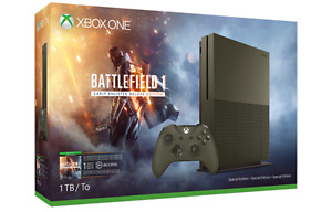 Xbox One S (Battlefield 1 Deluxe Edition console) + Extra