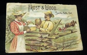 Early 1900's Frost & Woods Harvest Paper Ad, Smith Falls, Ont.