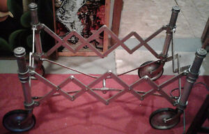 Genuine 1920s folding coffin stand or church truck, works fine