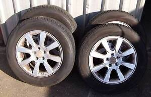"Subaru 16"" factory alloys and as new tyres Redcliffe Redcliffe Area Preview"