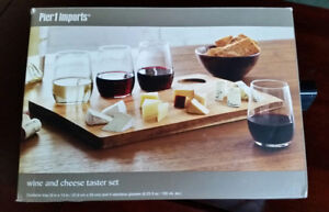 Wine and cheese taster set. Pier 1  Imports.  New in the box.