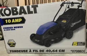 Lawn Mower For Sale (Kobalt Electric Corded 10 AMP 16 Inch Deck)