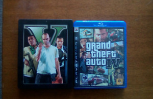 Grand theft auto iv and v   ps 3