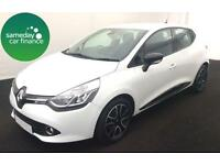 £165.72 PER MONTH WHITE 2013 RENAULT CLIO 1.2 DYNAMIQUE PETROL MANUAL WITH NAV