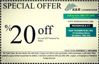 Special offer for Tax 2017