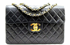 CHANEL XL JUMBO FLAP LAMBSKIN PURSE - AUTHENTIC Sarnia Sarnia Area image 3