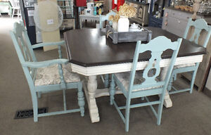 Jacobean Vintage Dining Set by Red Wind Studio
