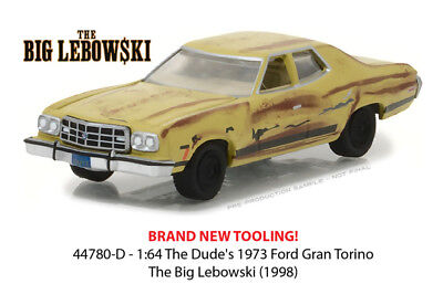 GREENLIGHT 1/64 THE BIG LEBOWSKI 1998 THE DUDE'S 1973 FORD GRAN TORINO 44780-D