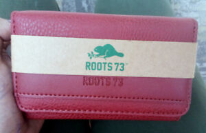 ROOTS 73 Women's Red Leather Wallet BRAND NEW UNUSED