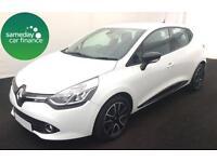 £136.54 PER MONTH WHITE 2013 RENAULT CLIO 1.2 DYNAMIQUE 5 DOOR PETROL MANUAL