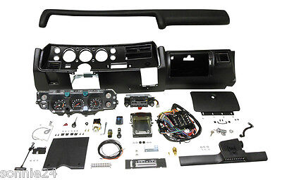 1971 CHEVELLE SS DASH KIT HDX GAUGES RADIO WITH AIR COND COMPLETE EL CAMINO