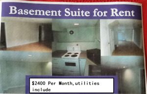 $2400 / 3br - 1200ft2 - Three bedrooms and One Bathroom basement