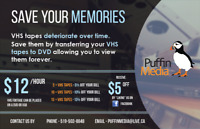 Save your Memories - VHS to DVD Transfer