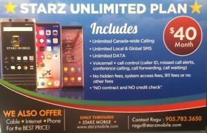 $40 Unlimited MobilePlan *1 month FREE*+No Term,No CreditCheck