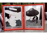 'A La Mode' Framed Wall Art by Carlos Fisch (Pair)