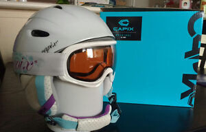 Girls Skiing Helmet 50-54cm and Matching Goggles