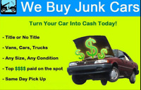 SCRAP JUNK OLD USED DAMAGED CAR TRUCK VEHICLE BUYER REMOVAL