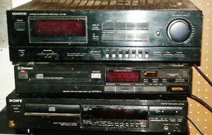 Stereo components-amplifier,CD players-Kenwood,Sony,Emerson