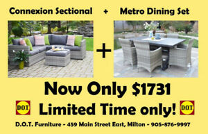 Outdoor Dining/Sectional Clearance- SAVE OVER $1000.00