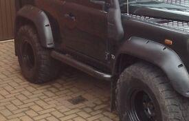 Land Rover Defender 90 side steps/bars (pair)