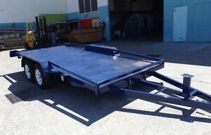 SAVE$$$ TILTING 15FT 2TON CAR TRAILER RAILINGS & NEW TYRES & RIMS Logan Area Preview
