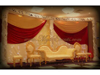 ✿Wedding Sofa Hire £299 Cutlery Hire 19p Chair Cover Hire 79p Backdrop Hire £199 Wedding Decoration✿