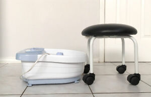 Foot Spa + Stool with Wheel