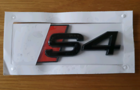 Gloss Black Audi S4 rear badge