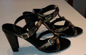 Jolie paire de sandales à motif léopard neuve à vendre!