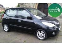 ONLY £95.83 PER MONTH BLACK 2008 HYUNDAI I10 1.1 COMFORT 5 DOOR MANUAL PETROL