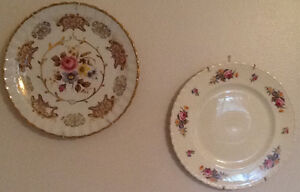 PLATES, PLATTER, BOBECHE, NAPKIN HOLDER, GLASS JAR  PLATE made i