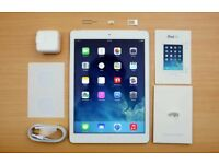 IPAD AIR CELLULAR UNLOCKED + WIFI WHITE AND SILVER WITH SMART COVER FOR SALE