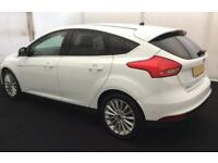 2016 WHITE FORD FOCUS 1.0 ECOBOOST 125 TITANIUM X 5DR HATCH CAR FINANCE FR £46PW