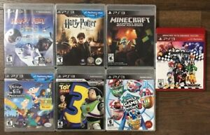 PS3 Bundle Lot Of 7 Games! Including Toy Story 3, Minecraft, Har