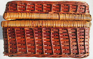 Wicker Basket Suitcase Picnic Display Item Cabin Decor Stratford Kitchener Area image 4
