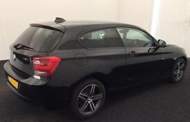 Black BMW 118i 1.6 170bhp Sports Hatch 2013 Sport 3 door FROM £51 PER WEEK!