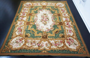8 X 10  French Antique Aubusson Rug $1200