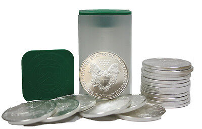 Roll Of 20 Silver American Eagle 1Oz  999 Us Mint American Eagles  1 Bu Coins