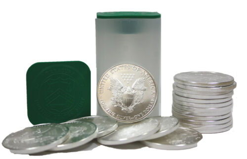 Roll of 20 Silver American Eagle 1oz .999 US Mint American Eagles $1 BU Coins
