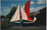 14' sailboat with sails and trailer