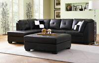 3PC BONDED LEATHER SECTIONAL $1498