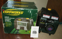 Yardworks Portable Generator, 2150 Watts - new in box
