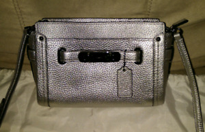 Authentic Coach Swagger Metallic Crossbody/Wristlet 53032