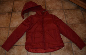 2 in 1 Anorak winter jacket & vest red H&M with hood