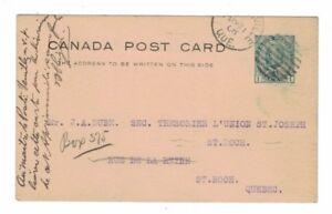 1908-05-21, #P22, J. LAUZON, VICTORIAVILLE VIA J.A. DUBÉ, QUÉBEC
