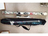 Ladies Rossignol Ski's and Poles